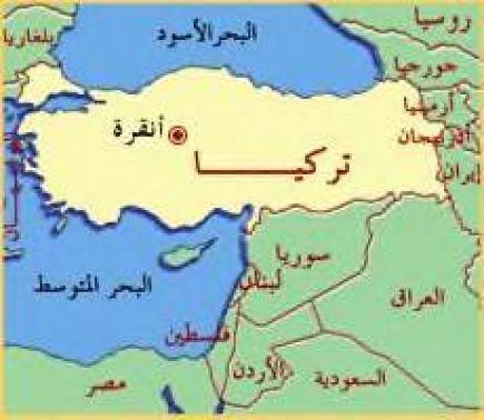 خريطه تركيا
