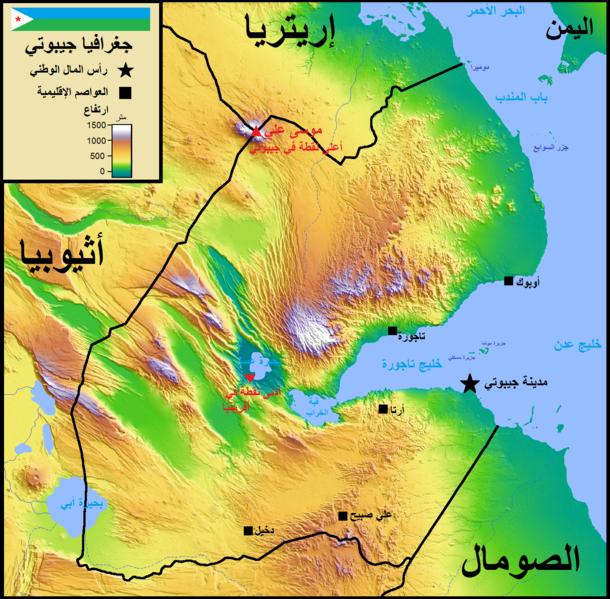 ماهى عاصمة جيبوتي و خريطة وعلم وعدد سكان جيبوتي