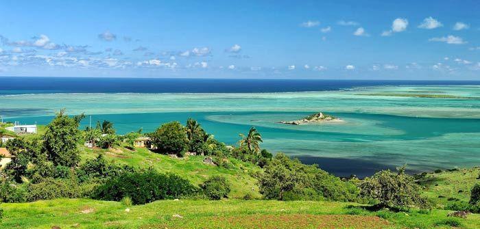 صورة جزيرة خضراء في موريشيوس