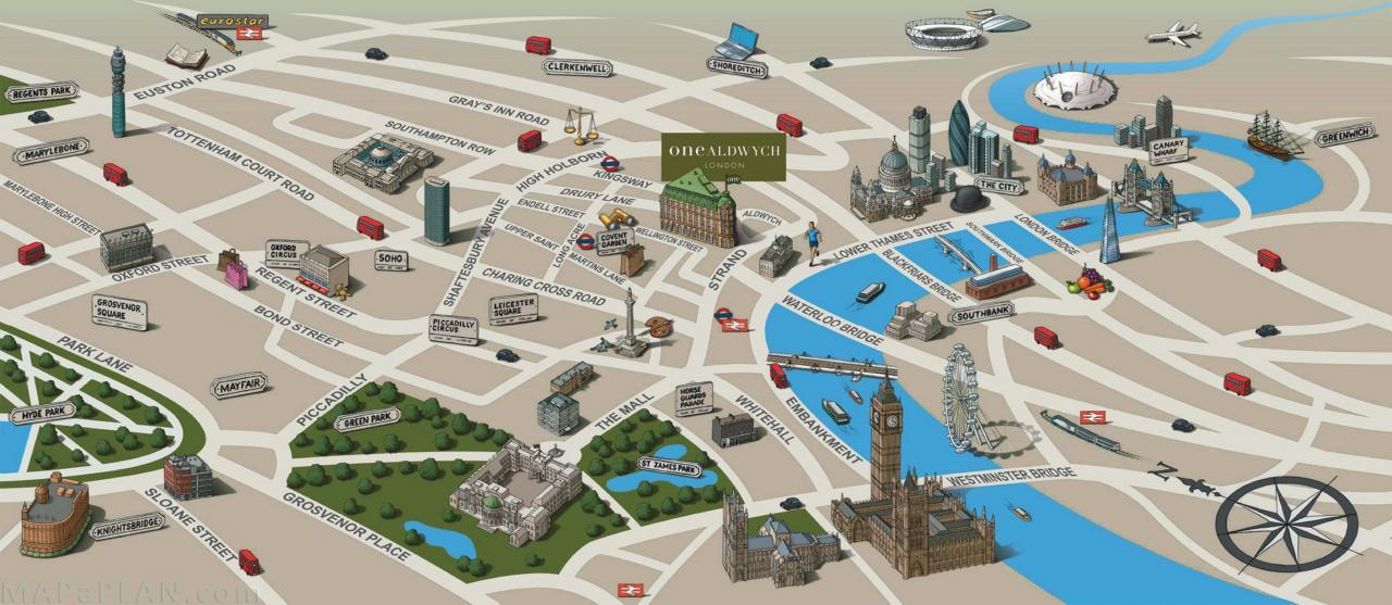 خريطة لندن السياحية