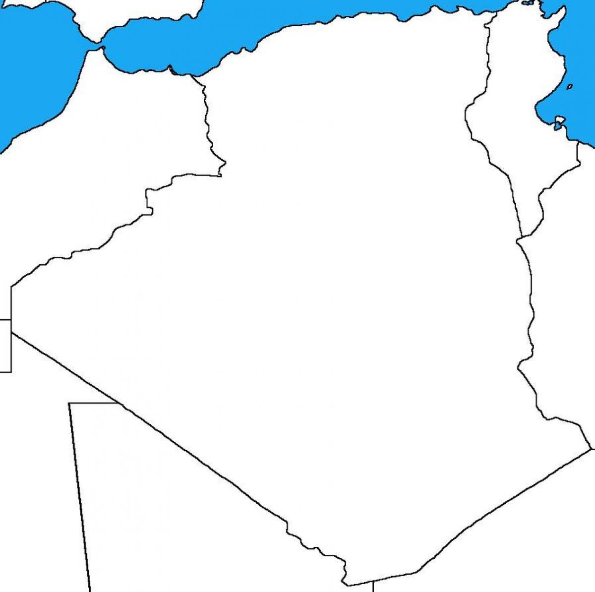 خريطة الجزائر صماء
