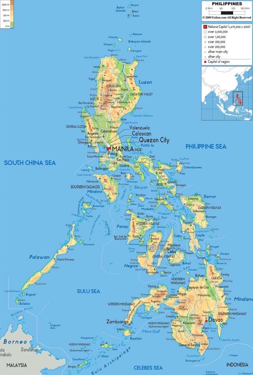 خريطة الفلبين الجُغرافية