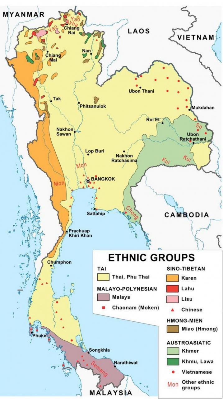 خريطة تايلاند الدينية