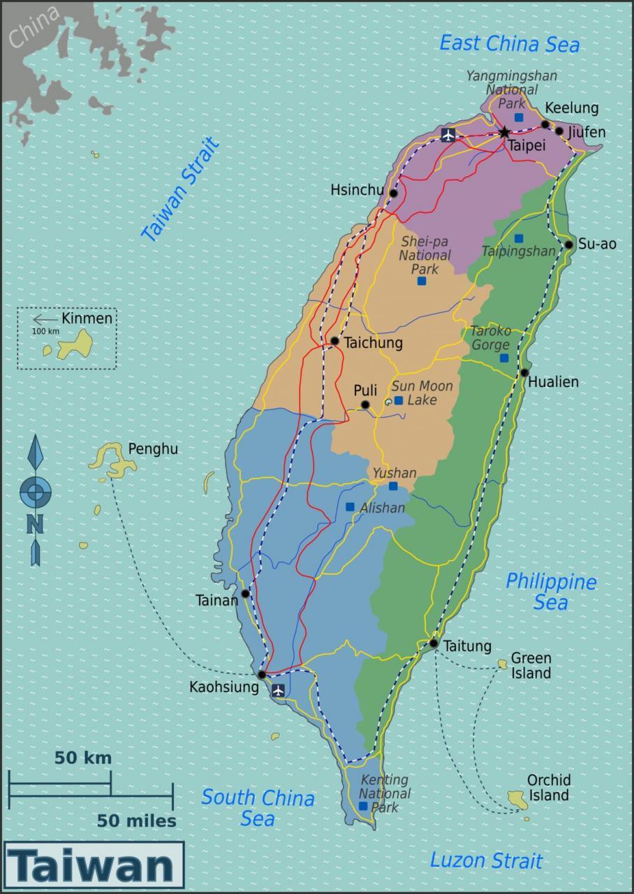 خريطة تايوان التُجارية