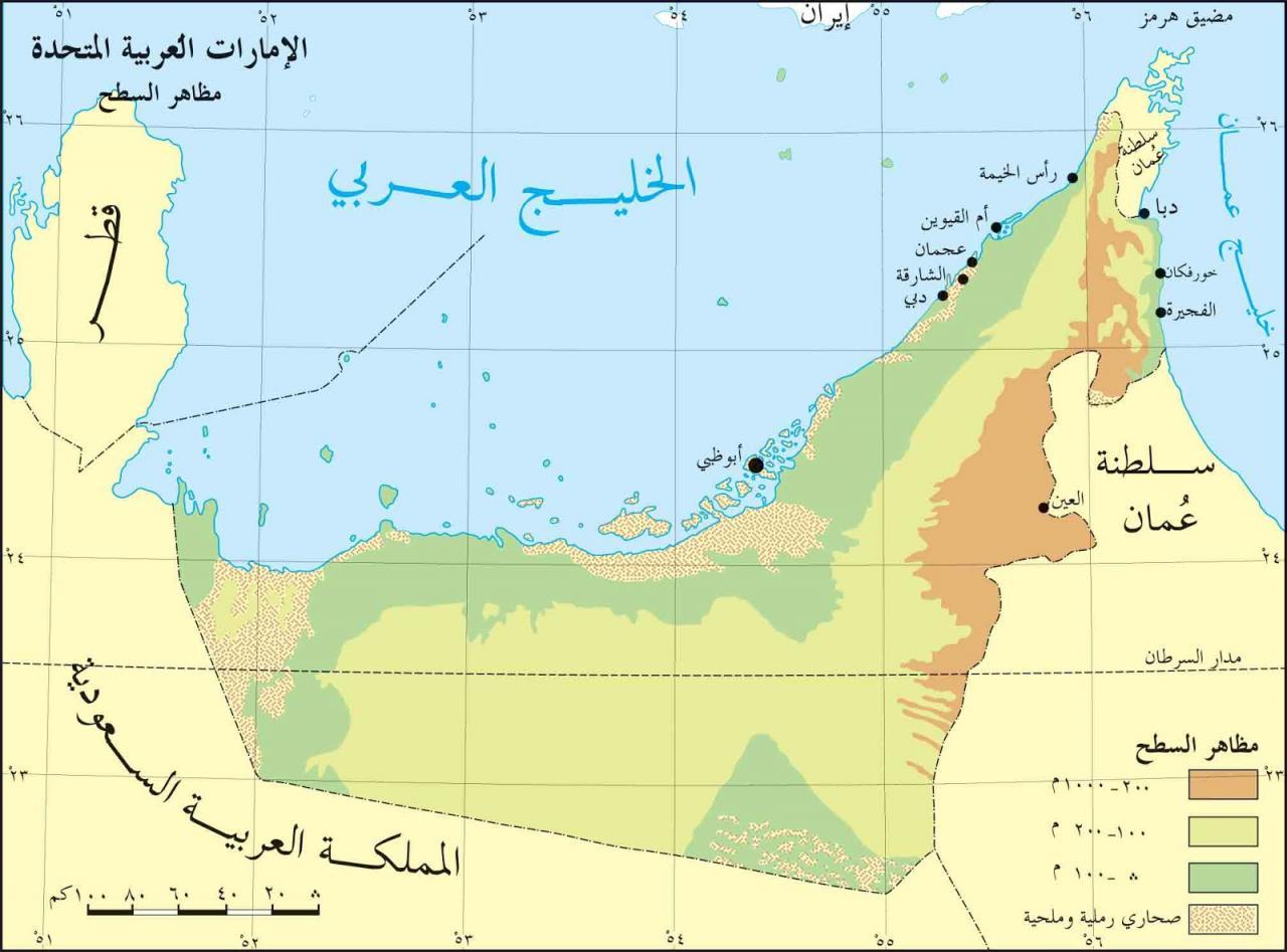 خريطة الإمارات الجُغرافية