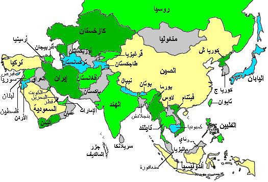 خريطة إندونيسيا الإقليمية