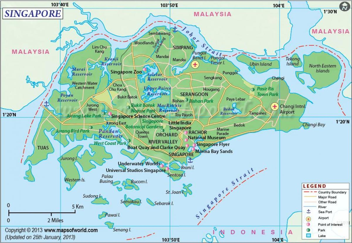 خريطة سنغافورة التفصيلية