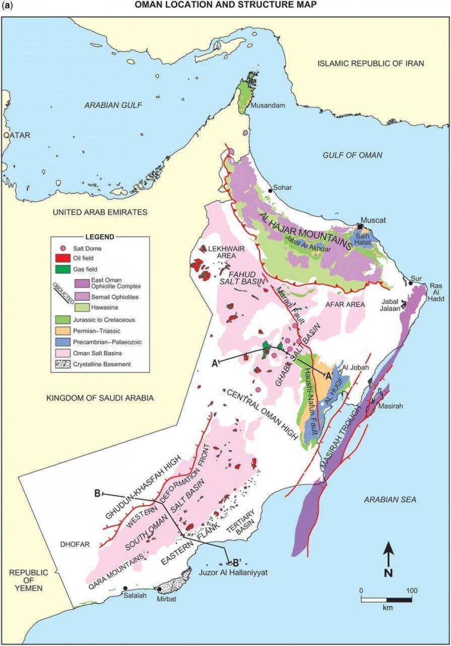 خريطة عمان الاستراتيجية