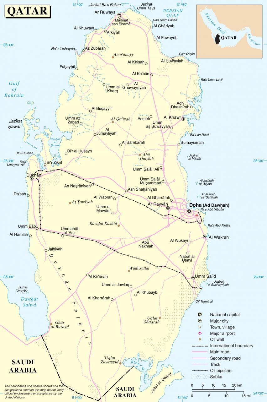 خريطة قطر التفصيلية