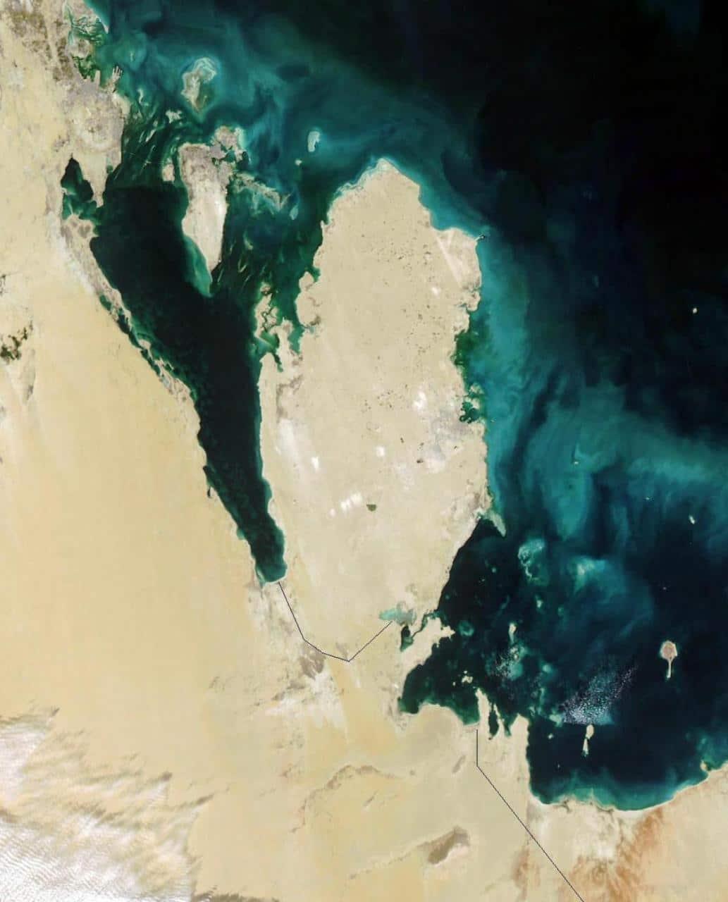 خريطة قطر بالقمر الصناعي