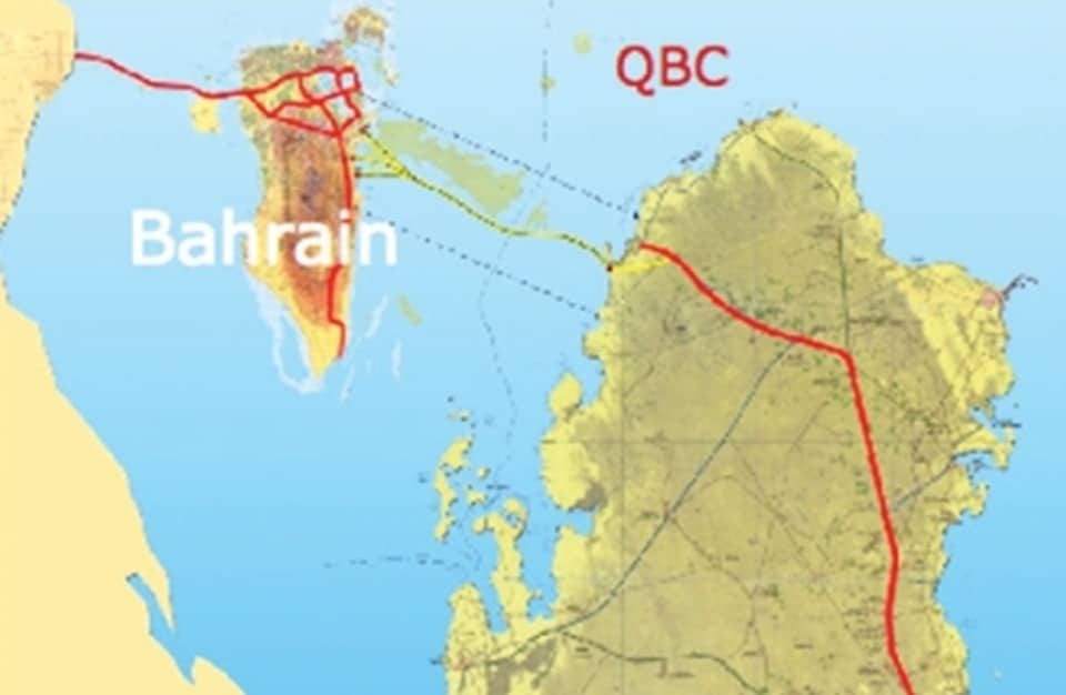 خريطة قطر و البحرين