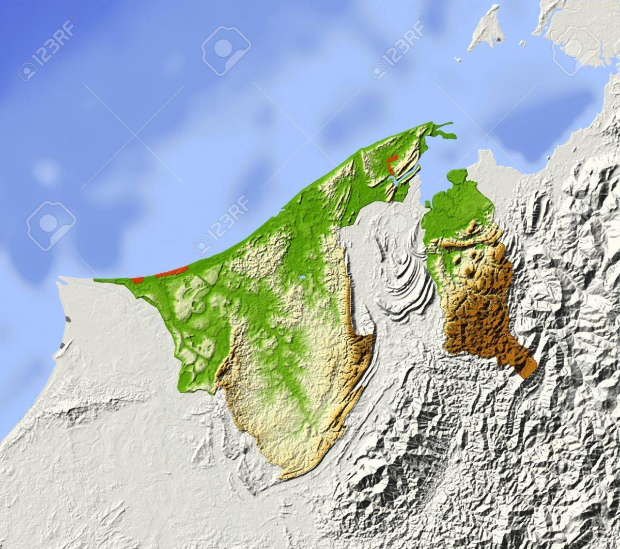 خريطة بروناي الجُغرافية