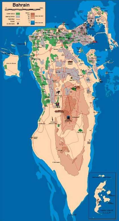 خريطة البحرين الجُغرافية