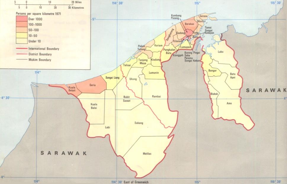 خريطة بروناي السُكانية