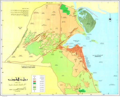 خريطة الكويت التفصيلية