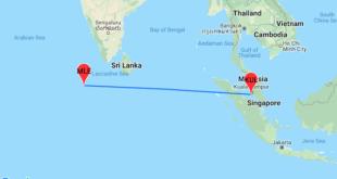 خريطة المالديف و ماليزيا