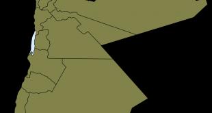 خريطة الأردن الصماء