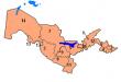 خريطة أوزبكستان الصماء