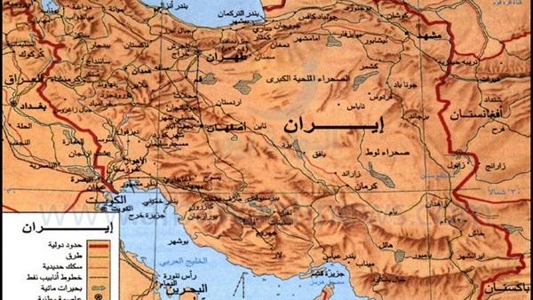 خريطة إيران الطبيعية