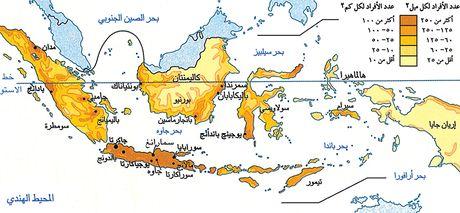 خريطة إندونيسيا السُكانية