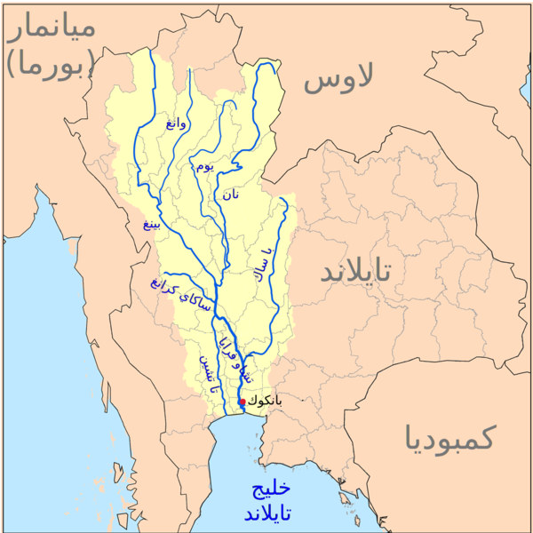 خريطة أنهار تايلاند