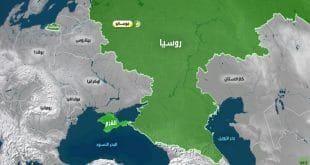 خريطة روسيا صماء