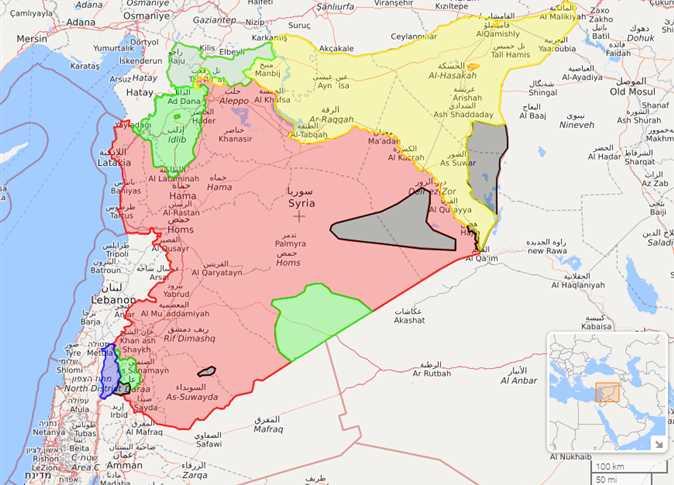 الجيش السوري «خريطة سوريا بالتفصيل hd
