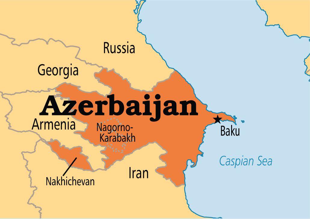 خريطة اذربيجان الصماء