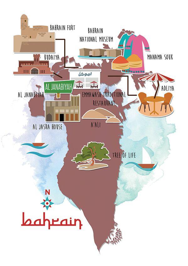 خريطة البحرين السياحية