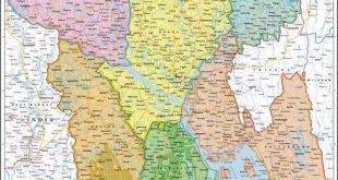 خريطة بنغلاديش بالتفصيل