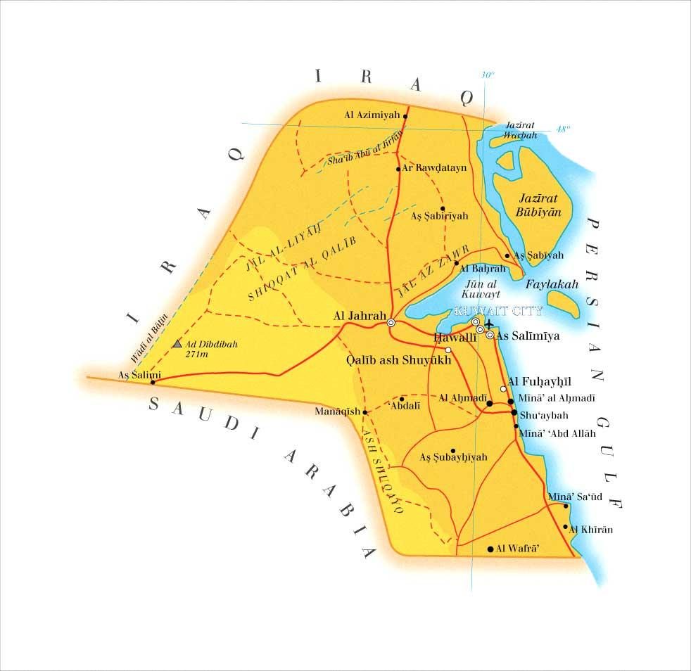 خريطة الكويت البحرية