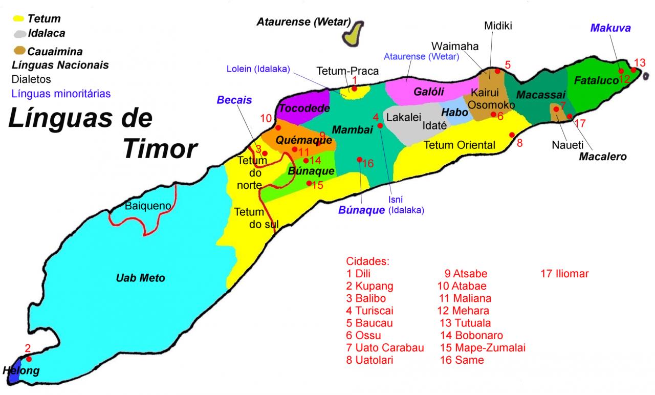 خريطة تيمور الشرقية العِرقية