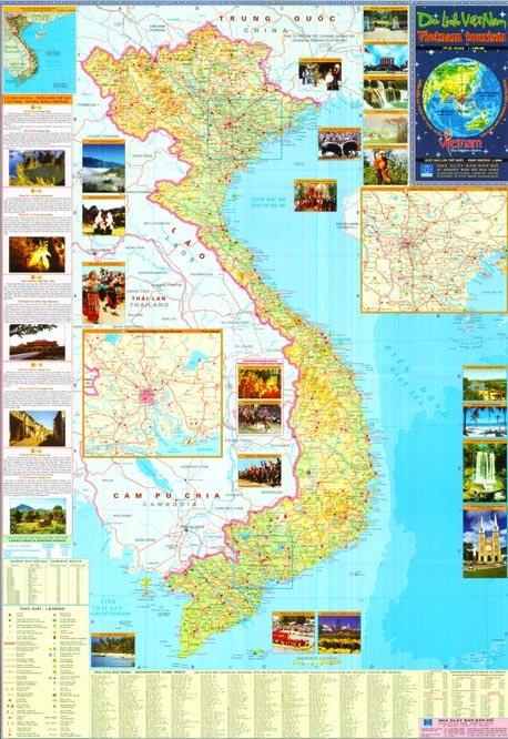 خريطة فيتنام السياحية