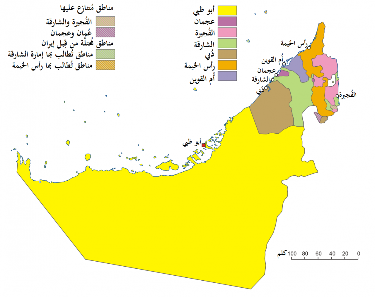 خريطة الإمارات الإمارات الصماء