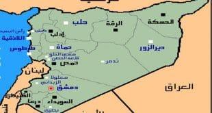 خريطة سوريا الإدارية