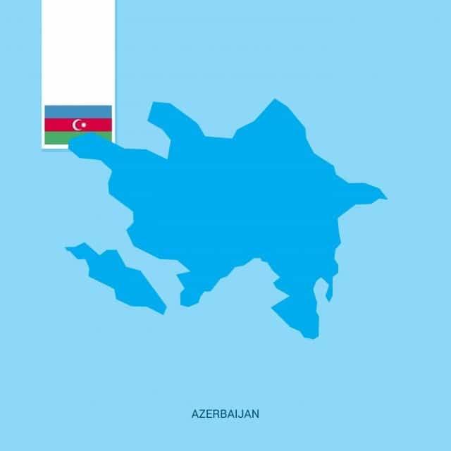 خريطة اذربيجان رسم