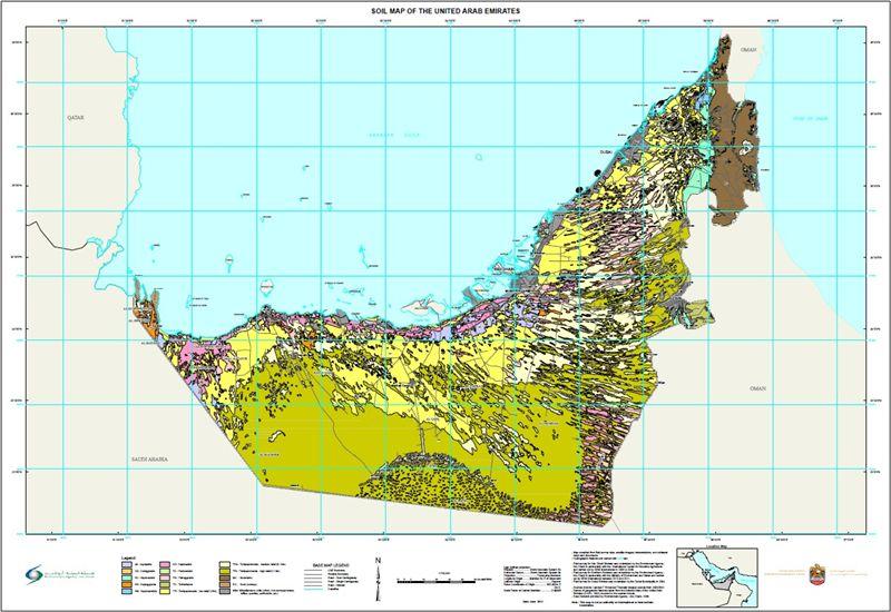 خريطة الإمارات السُكانية