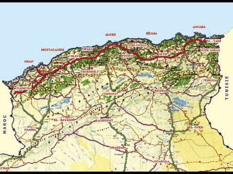 خريطة الجزائر طرقات