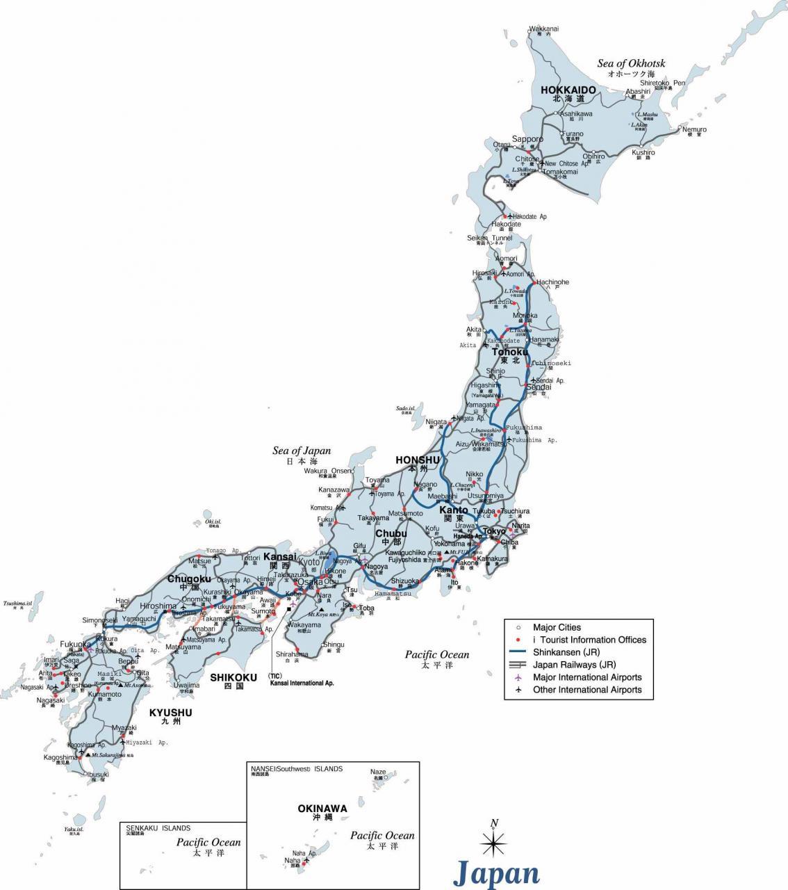 خريطة اليابان السياسية و الإدارية