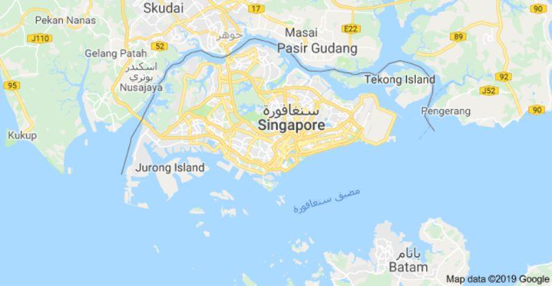 خريطة سنغافورة الصماء