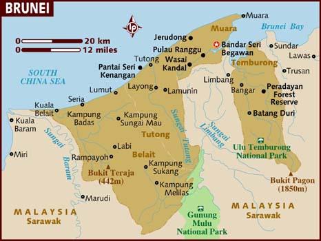خريطة بروناي بالانجليزي