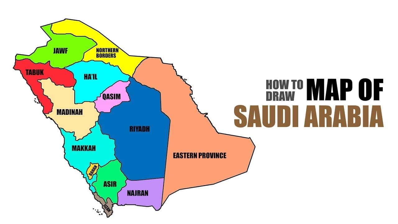 خريطة السعودية رسم