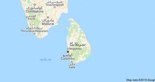خريطة سريلانكا الصماء