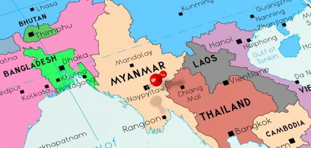خريطة ميانمار الصماء