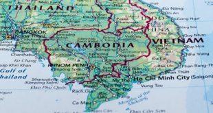 خريطة كمبوديا الحدودية