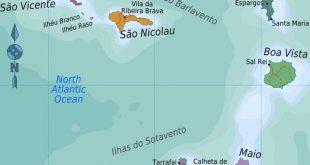 جزر الرأس الأخضر خريطة - جزر الرأس الأخضر خريطة الموقع (غرب ...