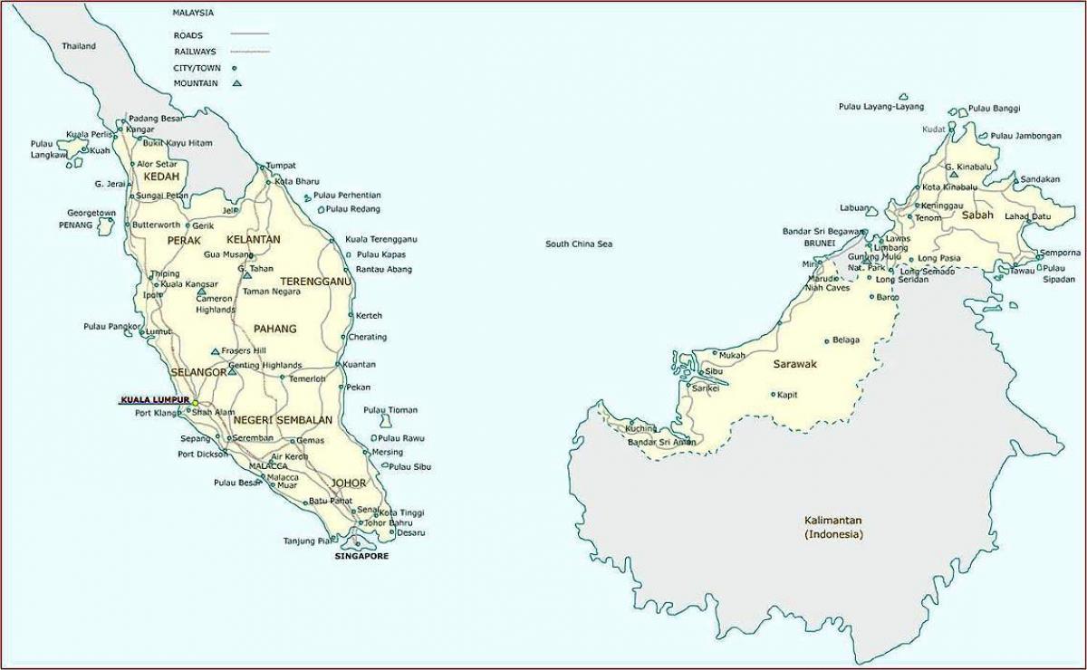 خريطة ماليزيا الإدارية