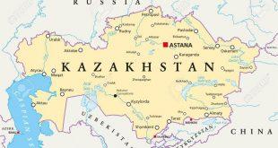 خريطة كازاخستان و الدول المجاورة
