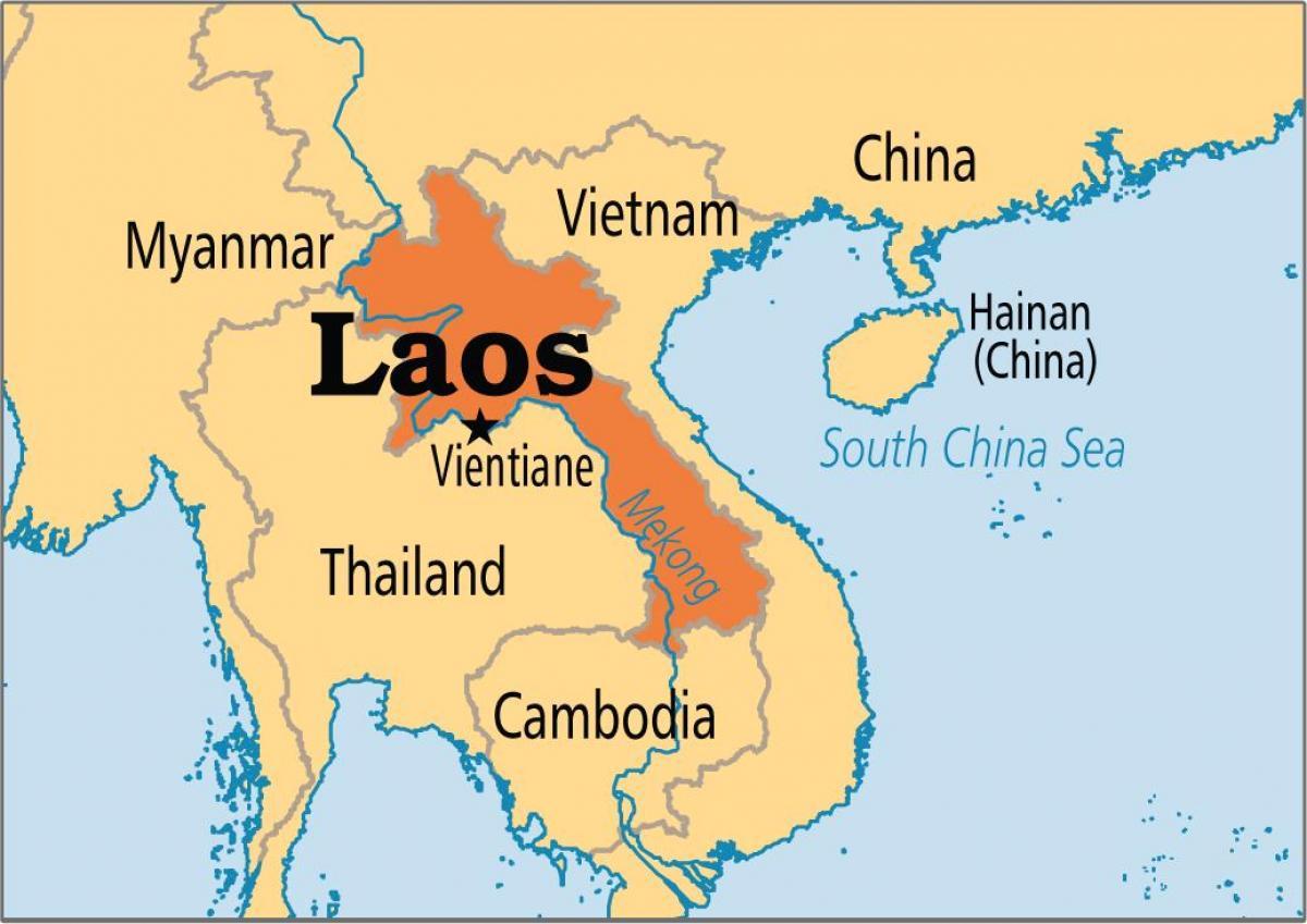 خريطة لاوس الصماء