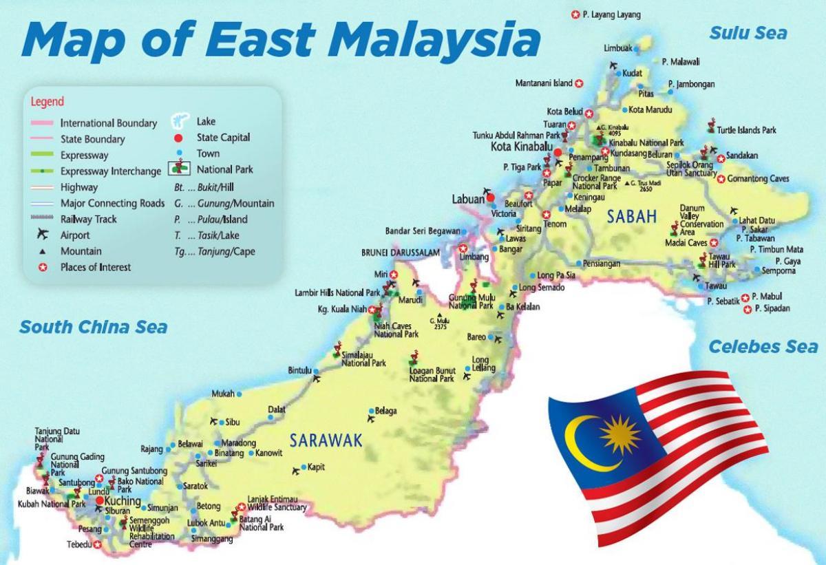 خريطةماليزيا التفصيلية